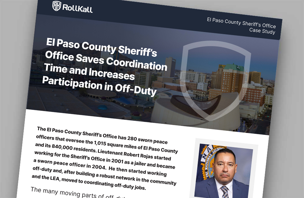 Case Study:El Paso County Sheriff's Office