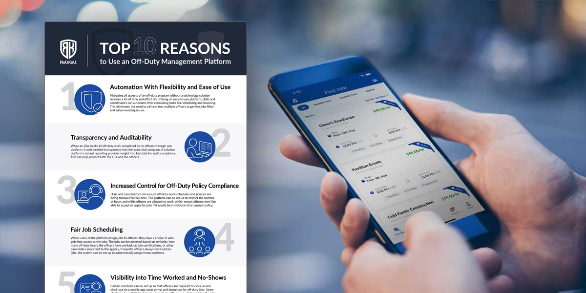Infographic: Top 10 Reasons To Use an Off-Duty Management Platform