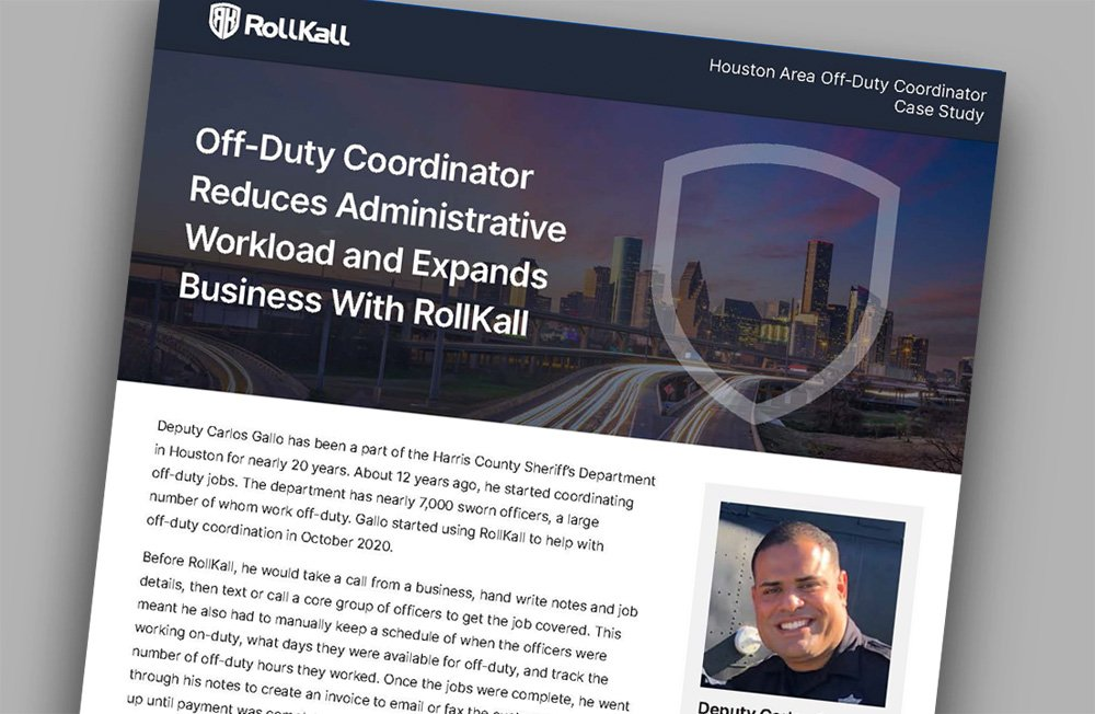 Case Study: Off-Duty Coordinator Reduces Administrative Workload and Expands Business With RollKall